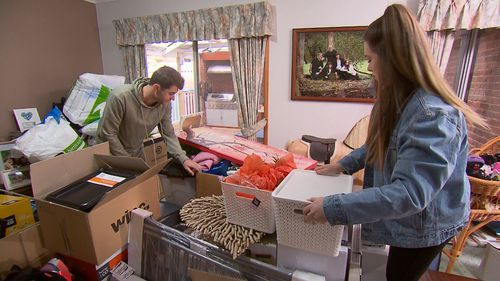 Megan and Aaron have been forced to move in with their parents.