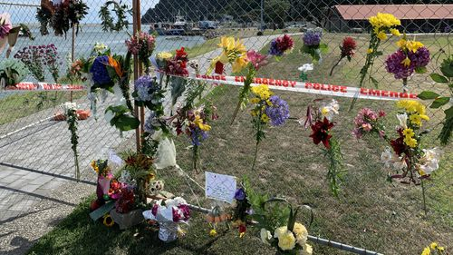 Tributes for the victims in Whakatane.