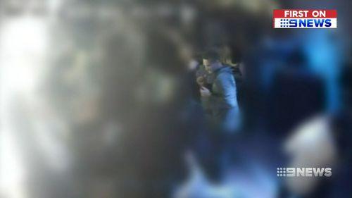 CCTV captured the brutal assault.