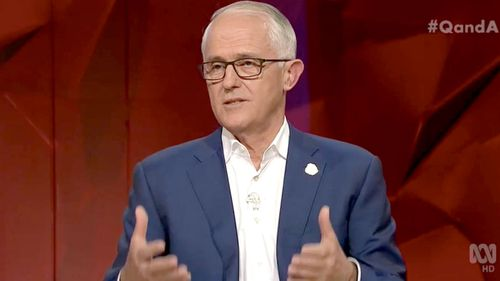 Malcolm Turnbull on last night's Q&A program.