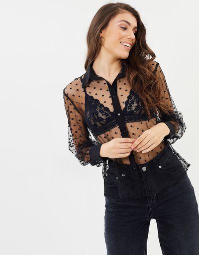 "<a href=""https://www.theiconic.com.au/miranda-sheer-shirt-627829.html"" target=""_blank"" title=""Atmos &amp;amp; Phere Miranda Sheer Shirt, $49.95"" draggable=""false"">Atmos &amp; Phere Miranda Sheer Shirt, $49.95</a>"