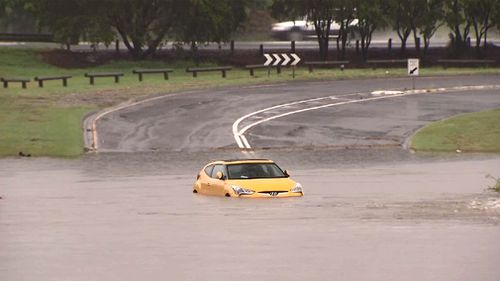 In Queensland, three flood warnings are in place as storms continue to bear down on the state. (9NEWS)