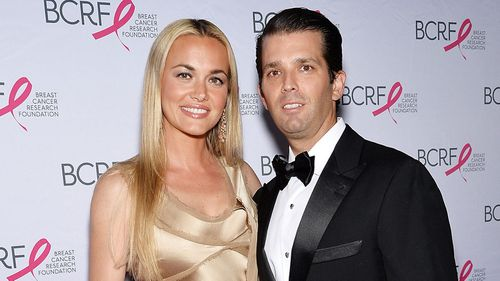 Vanessa Trump, the wife of Donald Trump Jr, has been taken to a New York hospital after a suspicious letter containing an unidentified white powder was sent to her home (Photo by Evan Agostini/Invision/AP).