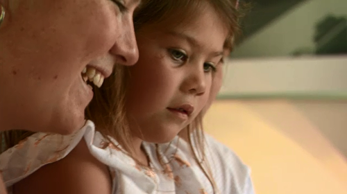 Lucia, five, may be carrying the same genetic mutation as her mother.