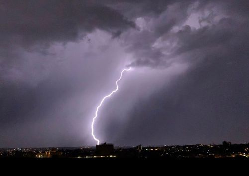 Lightning strikes lit up the night sky and also sparked more fires in the Gippsland.