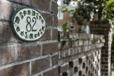 Stock image of house number 82.