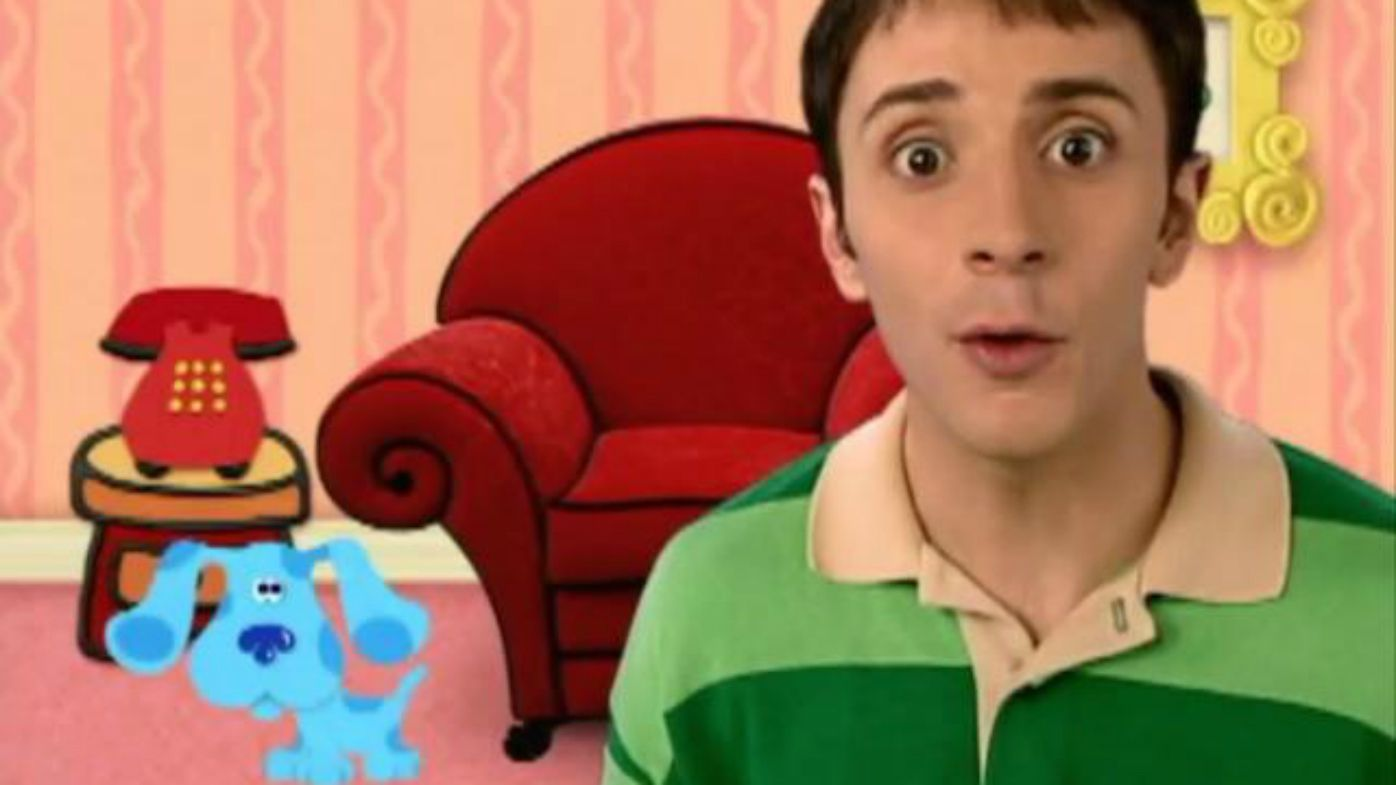 Steve Burns was the host of Blue's Clues from 1996-2002. Image Nickelodeon