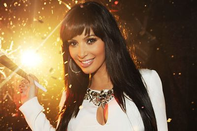 Nothing like a new 'do to kickstart the new year, and we're loving Kim Kardashian's fringe! She partied at Tao Las Vegas at the Venetian Hotel and Casino.<br/>
