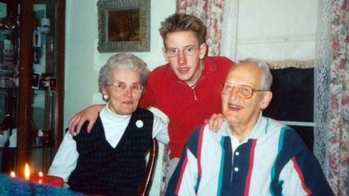 Kassig as a boy with his maternal grandparents. (AAP)