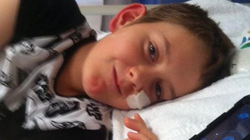 Konah was only 12 when doctors discovered his brain tumour. (Sherlee Gelding)