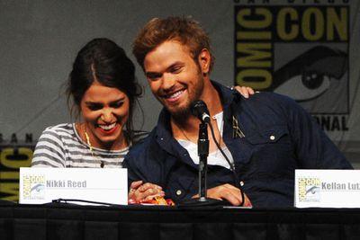 Nikki Reed and Kellan Lutz seem pretty happy about no longer rocking <i>Twilight</i> vampire moon tans.