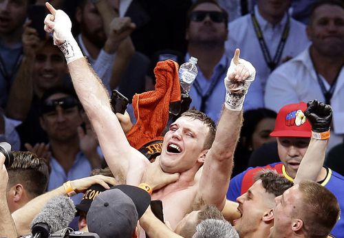 Horn's last win over Manny Pacquiao was a gruelling slugfest. Picture: AAP