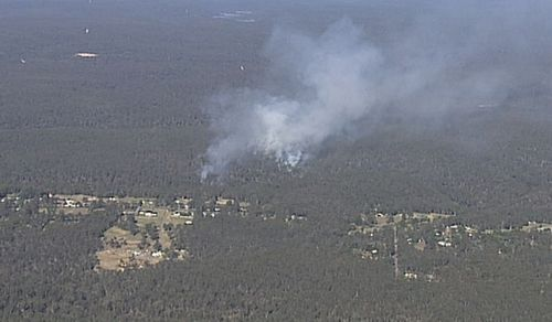 Large plumes of smoke can be seen as far as Penrith. Image: 9News