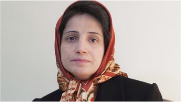 Nasrin Sotoudeh has been jailed for nearly forty years for her human rights work and helping women in Iran.