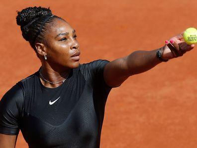 serena williams playing tennis may 2018