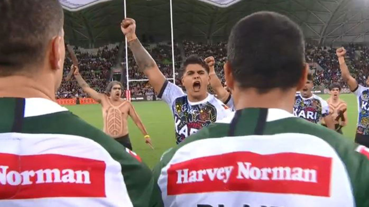 Indigenous All Stars and Maori All Stars come face to face in spirited pre-game