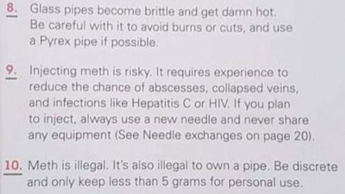Massey High School said the pamphlet is a part of broader drug education.