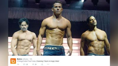 A photo of Magic Mike star Channing Tatum was posted using the hashtag #ThingsColderThanToday. (Twitter)