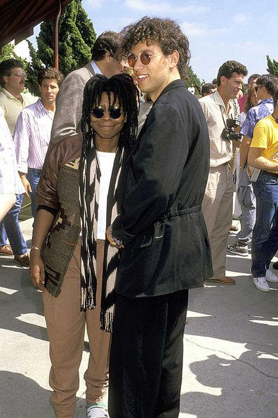 Whoopi Goldberg and David Claessen when they were married in 1987.