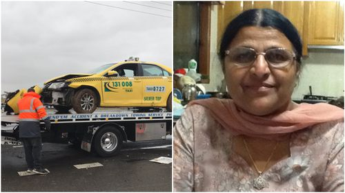Grandmother hit by car while inspecting damaged Melbourne taxi