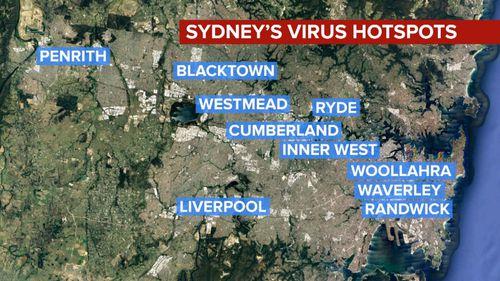 Coronavirus hotspots Sydney