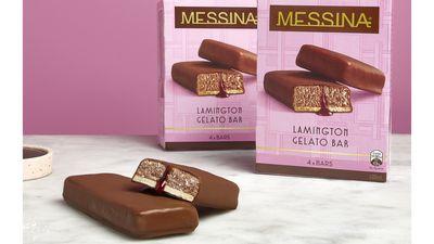 Messina's lamington gelato bars are here