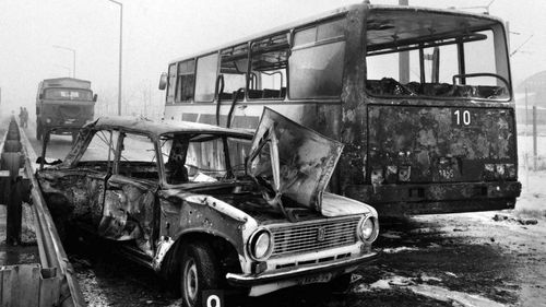The result of an attack from the Red Army Faction. (AAP)