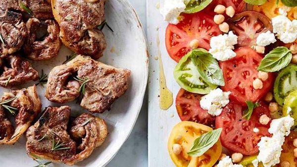 Lamb chops and summer tomatoes recipe