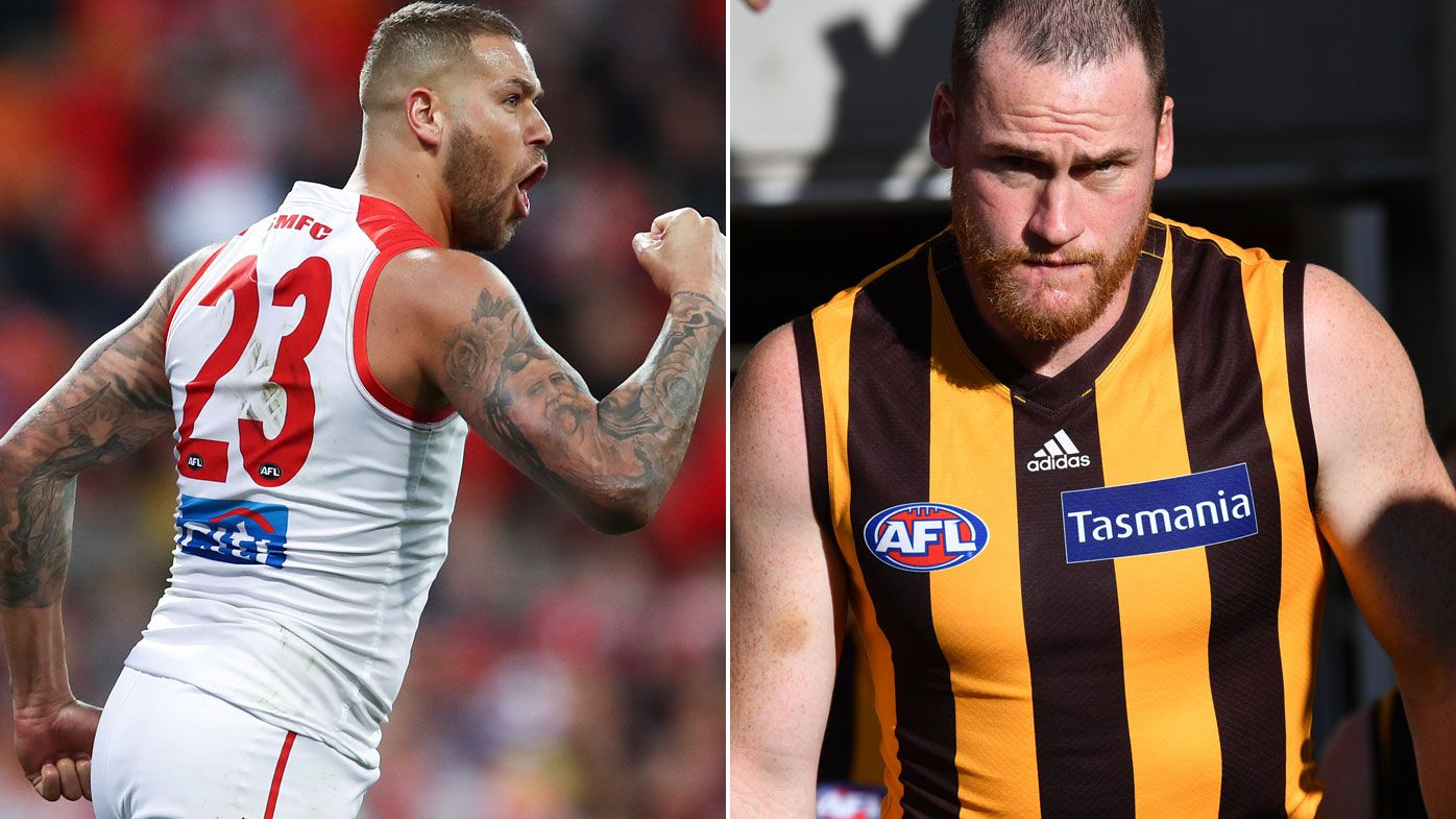 Buddy, Roughead in for Swans-Hawks in AFL