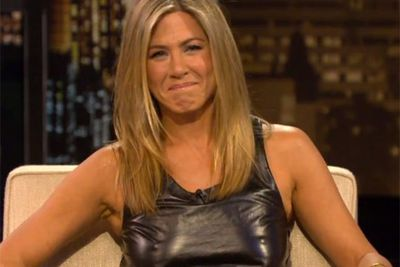 Jen was called out by pal Chelsea Handler on her TV show for showing her, er, high-beams.