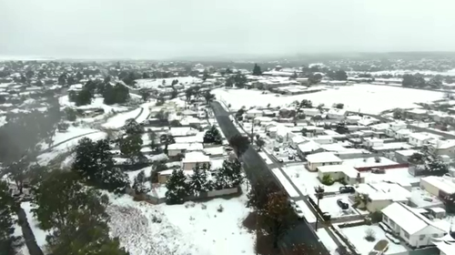 Parts of NSW have experienced substantial snowfall, weeks into the spring weather.