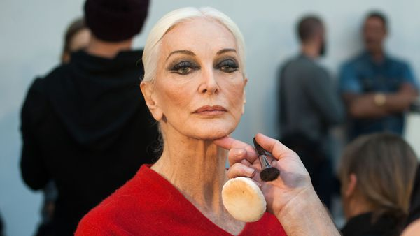 Carmen Dell'Orifice - model and beauty at 86. Image: Getty.