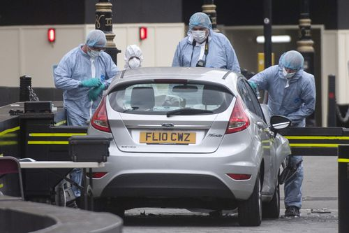 Forensics officers have since seized the car, which had no one else inside, for investigations.