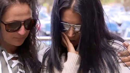 Jalal's mother, Olivia Yassine (right) spoke outside court today and questioned why Deng was never charged. (9NEWS)