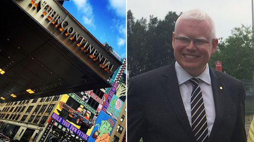 Kiama MP Gareth Ward has been caught up in a massage scandal at the Intercontinental in New York. (AAP)
