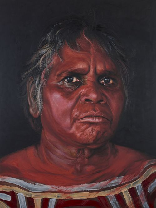 Archibald Prize 2019 finalist David Darcy 'Tjuparntarri women's business'  oil on linen 240.5 x 180.5 cm.