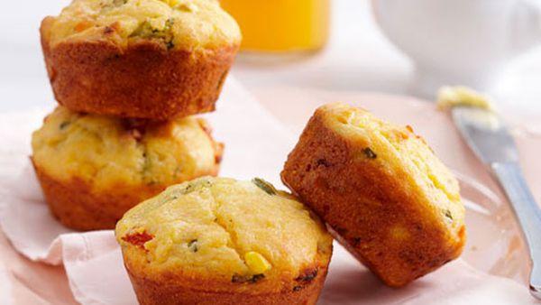 Corn and polenta muffins