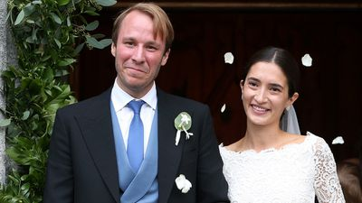The couple were married at French church 'Eglise au Bois' in St Moritz, Switzerland