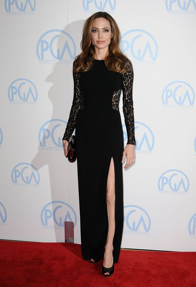 <p><strong>Angelina Jolie 3</strong></p> <p>Wearing Michael Kors in 2012 at the Producers Guild Awards.</p>