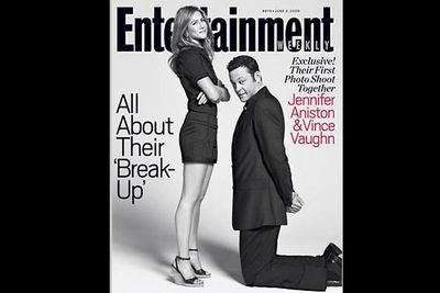 Woman on top: After a real life break-up, Jen bounces back with an on-screen split, with sexy results.