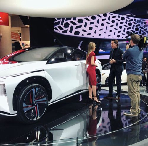 The 2018 model of the Nissan's EV, the Nissan Leaf, is expected to land on our shores before Christmas. (9NEWS)