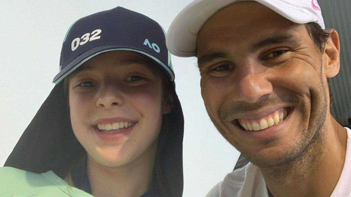 Brave ball girl reveals Rafael Nadal's act of kindness