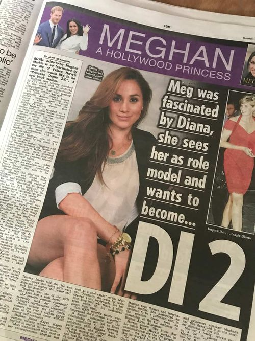 The Sun newspaper chose today to begin a series of extracts from a new book on Meghan, written by Princess Diana's biographer, Andrew Morton. (The Sun)