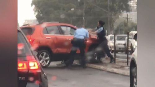 Footage showed the dramatic arrest which appeared to involve officers pointing their guns at him.