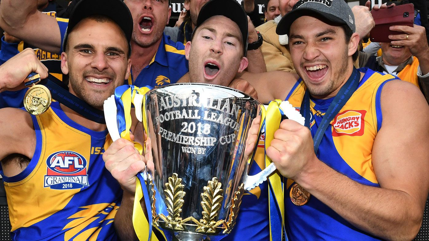 Eagles celebrate AFL premiership
