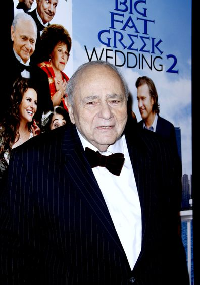 """Michael Constantine attends the """"My Big Fat Greek Wedding 2"""" New York Premiere at AMC Loews Lincoln Square in New York City, New York on March 15, 2016."""
