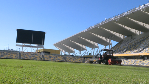 Inside the COVID-19 cleaning regime of Queensland's country NRL stadium
