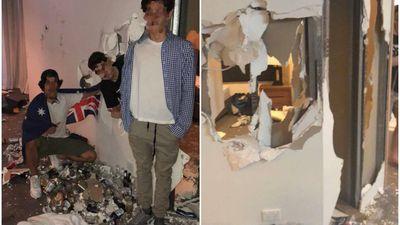 Schoolies rip hotel room to shreds