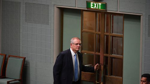 Scott Morrison leaves the House of Representatives on the last day of Parliament.