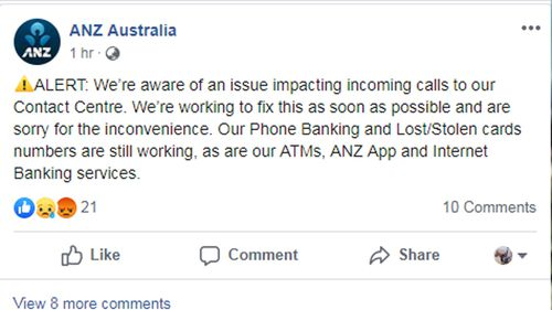 ANZ Bank customers struggling to contact bank due to phone problem
